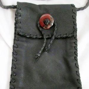 NEW Handmade Stitched Leather Crossbody Bag